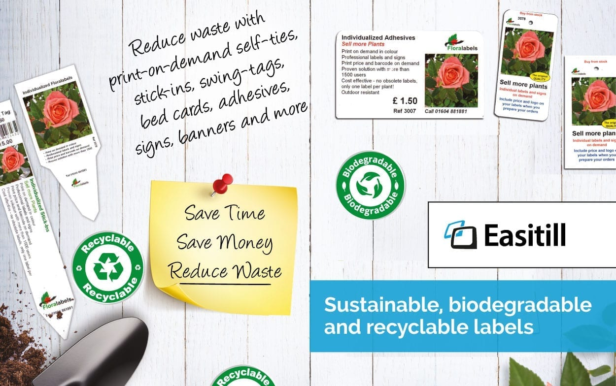 Sustainable, biodegradable and recyclable labels