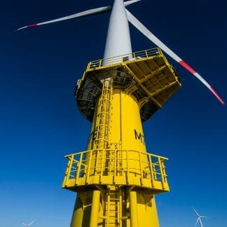 Wind turbine in sea