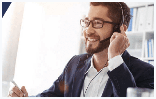 man on a voip call