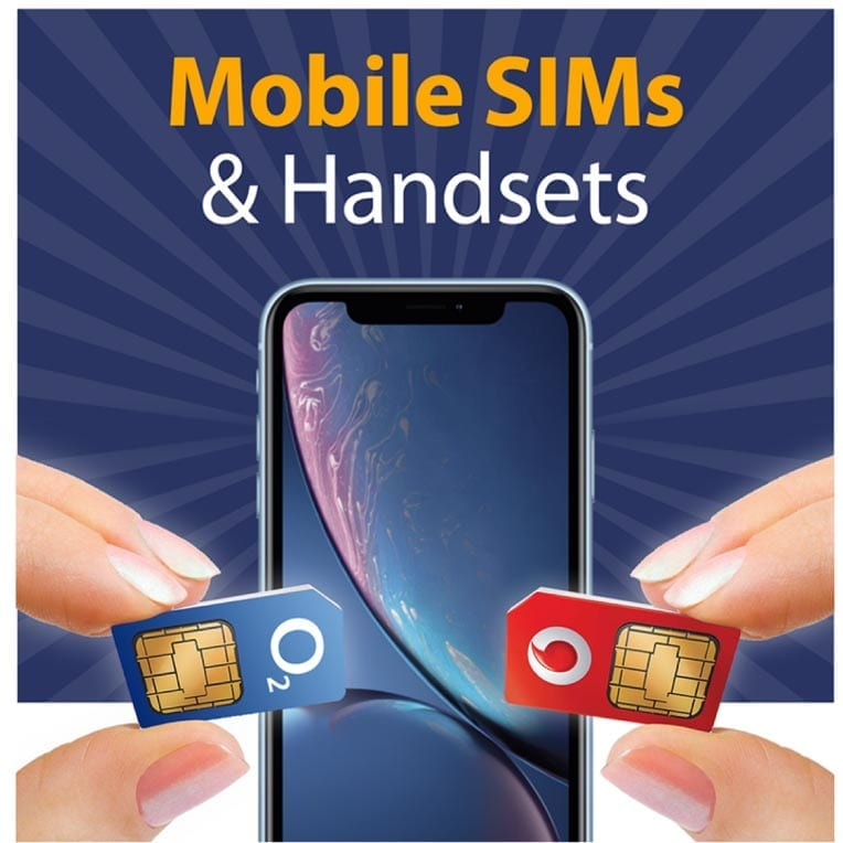 Mobile SIMS and handsets logo